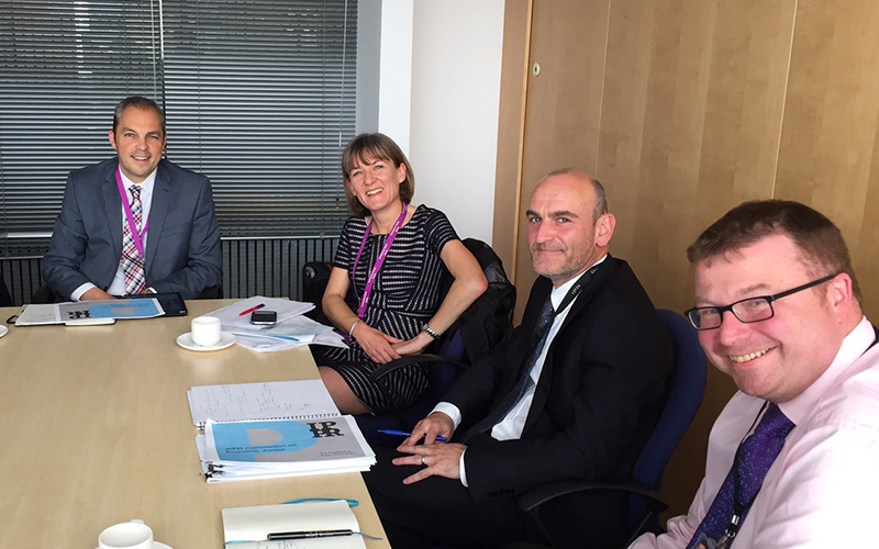 Commissioner Mary Senior with members of the Scottish Government's Economic Strategy Unit
