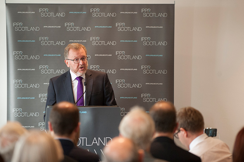 David Mundell speaking at IPPR Scotland event in Glasgow