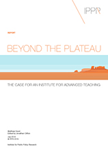 Beyond the plateau: The case for an Institute for Advanced Teaching