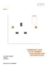 Community and local energy: Challenges and opportunities