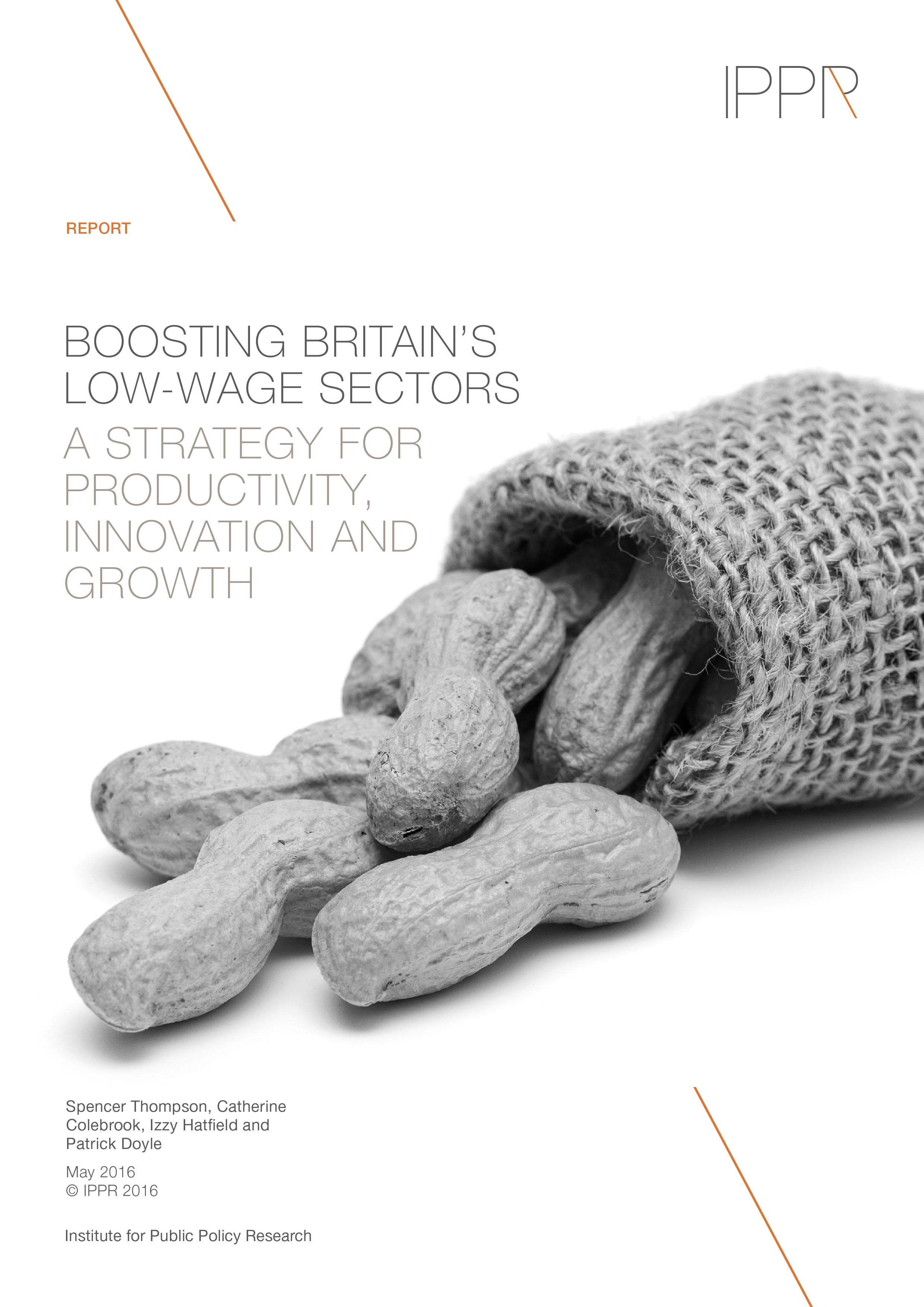 Boosting Britain's low-wage sectors: A strategy for productivity, innovation and growth