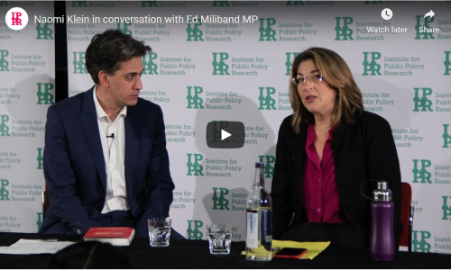 Watch: Naomi Klein in conversation with Ed Miliband