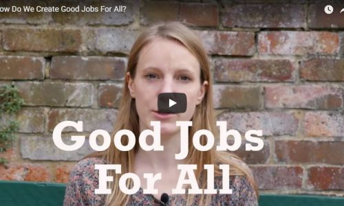 How do we create good jobs for all?
