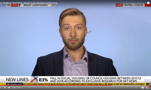 Jonny Webb on Sky News | Rural rough sleeping and housing