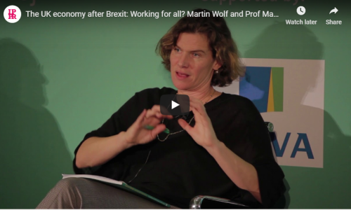 The UK economy after Brexit: Working for all? Martin Wolf and Prof Mariana Mazzucato in conversation with Michael Jacobs