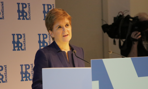Watch: Nicola Sturgeon speech at IPPR Scotland
