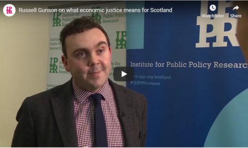 Watch: Russell Gunson speaks about economic justice for Scotland | ITV Border