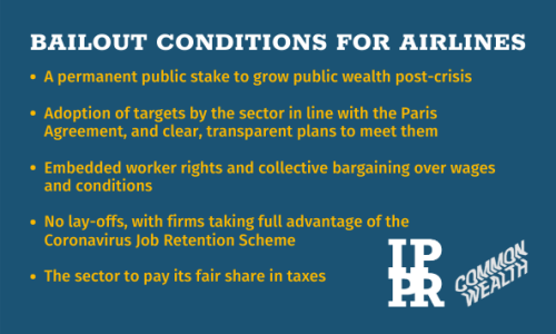 Think tanks call for bailout conditions for airlines to secure jobs and deliver climate justice