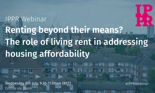 Webinar: Renting beyond their means? The role of living rent in addressing housing affordability