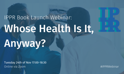 Book launch webinar: Whose Health Is It, Anyway?