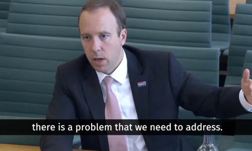 Watch: Jeremy Hunt questions Matt Hancock about IPPR cancer research